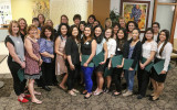 Sigma Phi Omega, Gamma Chi Chapter induction ceremony and reception, Sacramento State, University, April 20, 2015