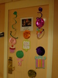 I decorated my sis in law's door for her 50th birthday celebration on the cruise