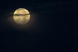 Moon over Pendeen, Cornwall
