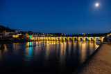 Bideford Old Bridge at night