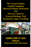 Cynwyd Station Capital Campaign Memorial Plaque Dedication