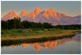 Sunrise on the Grand Tetons (HDR)
