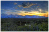 Sunset on the Tetons (HDR)