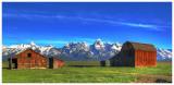 Mormon Row barn, Grand Teton National Park (HDR)