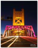 Tower Bridge in purple for Kings opener