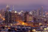 San Francisco Skyline with Baybridge, View from Corona Heights