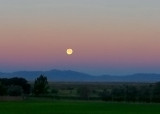 Moonset over Promontory Mountians - Northrrn Utah