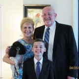 Easter Sunday, 2015, with my 11 year old grandson,
