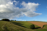 Hills and shadows near Bradninch