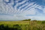 Cloud scape over Caseberry Downs in Devon