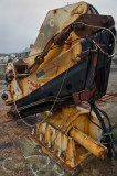 Folding crane at Porthleven