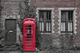 Phone box at Seaton Junction