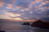 Sunset over the Atlantic at Hartland