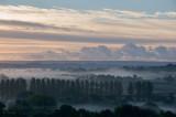 Morning mist over the Culm valley in Devon