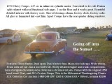 1950 Chevy into the sunset with text
