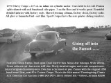 1950 Chevy into the sunset with text in gray scale