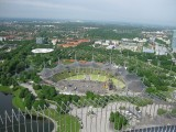 Munich. Olympiapark. View from the Olympic Tower