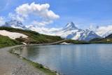 Hikers at Lake Bachalpsee