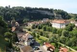 Fribourg/Freiburg. View from Zaehringen Bridge