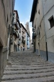 Morella. Escalera hacia la Basílica