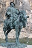 Morella. Estatua de Don Ramon Cabrera i Griñó