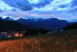 Pontresina. Night falling over the Valley