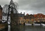 temps gris et pluvieux à Bruges