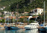 leaving the small harbour of Kas