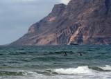 olas en Caleta de Famara