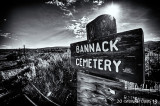 Bannack Cemetery In Black & White