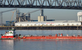 Port of Greater Baton Rouge; Barge in View