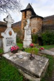 GORGES du TARN. BROUSSE le Chateau.The Old Cimetery