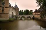 BOURGOGNE.Chateau de Sully during an autumn rain