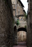 In the San Gimignano Streets