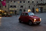 San Gimignano. the red Fiat 500