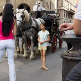 Firenze.Horses and the little girl 2