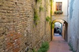 San Gimignano .A street of the old fortress