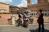 SIENA.Group of cyclists on the Place del Campo
