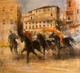 SIENNA.Famous PALIO of SIENA .Painting