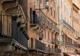 SIENA.Architecture of the Place del Campo