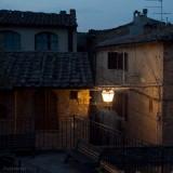 San Gimignano.   Night Street