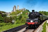 Steam Train at Corfe