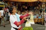 Sampaguita garland vendor