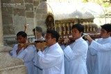 Transporting the relics of St. Thérèse of Lisieux