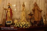 The Our Lady of Fatima image dominates the Santos residence