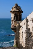 El Morro garita and the sea