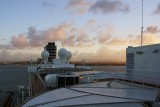 Westerdam and sunset