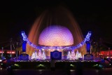 Epcot fountains and Spaceship Earth