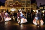 Surreal looking night dancers