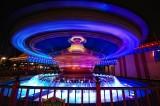 Dumbo spinning high at night